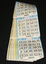 BINGO PAPER Cards 3 on 8 Blue Bdr Star 50 packs FREE PRIORITY SHIPPING