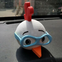 1Pc Cute Glasses Chicken Car Antenna Pen Topper Aerial EVA Ball Decor Toy GiYE3R