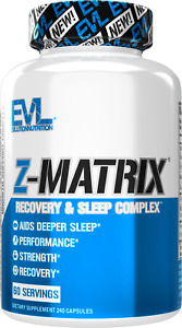 Evlution Nutrition Z Matrix Nighttime Recovery and Sleep Support (60 Servings)