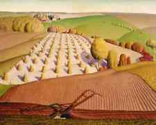 Fall Plowing by Grant Wood - Farm Field Plow Midwest Country  8x10 Print  1794