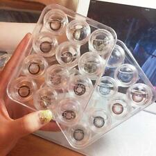 12 pcs Clear Contact Lens Case Set Travel Cleaner Washer Holder Storage Box HU