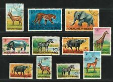 "BURUNDI 1964 Very Fine Used Stamps Set  ""Animals """