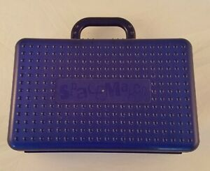 Spacemaker Large Pencil Case Handle Art Craft Supply School Organizer Box Blue