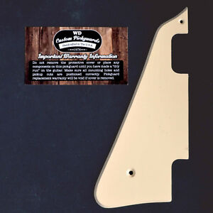 Pickguard Gaucher Gibson Les Paul  DeLuxe Vintage P-90 Cream 1ply Left Handed