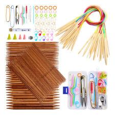 Knitting Needles Set Bamboo Circular Double Point Weaving Needles Smooth Kits