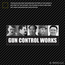 Gun Control Works Sticker Decal Self Adhesive Vinyl 2A molon labe gun rights