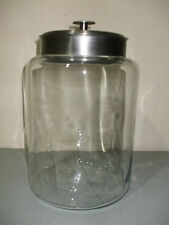 Giant Apothecary Jar Canister w/ Stainless Steel Lid!