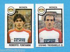 PANINI CALCIATORI 1982/83 -Figurina n.492- FONTANINI+TREVISANELLO - MONZA -Rec