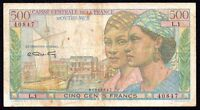 French Equatorial Africa 500 Francs ND P-25  1949