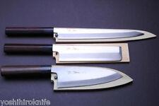 Kasumi 3p Set Japanese chef knife Shitan Handle YOSHIHIRO (YA27/DE18/US19.5)
