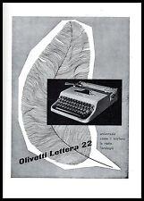 OLIVETTI LETTERA 22 DESIGN PENNA PIUMA SCRITTURA MACCHINA DA SCRIVERE 1953