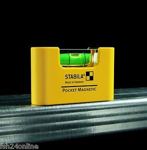 STABILA Pocket Magnetic / Stabila Wasserwaage Mini, 68 mm