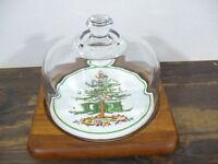 "Goodwood Christmas Tree 6"" Tile w/ Dome lid in 8"" sq Teak wood frame"