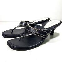 Liz Claiborne Women's Black White Thong Heels Size 6.5M
