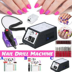 🔥 Nail Art Drill Tip Manicure File Grinder Polisher Battery Beauty Tool AU Plug