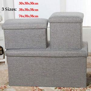Large Folding Storage Ottoman Pouffe Makeup Seat Foot Stool Storage Box Modern