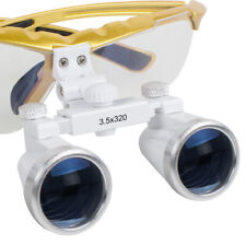 Dentist Dental Surgical Medical Binocular Loupes 3.5X 320mm Optical Glass Yellow