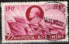 Romania Famous Communist Leader Vladimir Lenin amd Flags stamp 1957