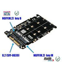 M.2 NVME SSD Key M Key B SSD to U.2 SFF-8639 Adapter Card Converter for PC
