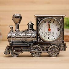 Unique Design Fashion Home Antique Style locomotive Mini Train Alarm Clock Cool