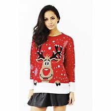 Ladies Christmas Xmas Unisex Novelty Knitted Jumpers Sweater Retro Vintage Top