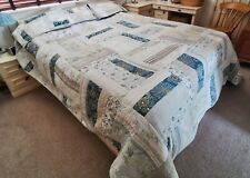 "John Lewis King Size Patchwork Quilt with 3 Pillowcases 156"" x 108"""