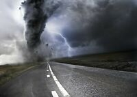 Awesome Extreme Tornado Poster Print Size A4 / A3 Weather Art Poster Gift #8645