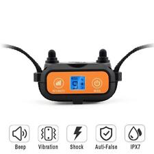 Pet Shock Collar Waterproof Electric Dog Training Vibration Sound Anti Barker