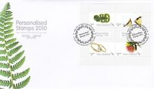 NZFD282) NZ 2010 Personalised Stamps M/S FDC Set