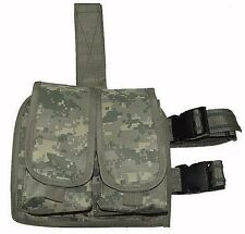 ACU Digital Camo Double Magazine Clip Pouch Drop Leg Assembly BB Pistol Gun 211A