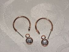 Origami Owl Rose Gold Earrings with Clear Crystal Earrings Drops
