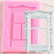 Window Sugarcraft Silicone Mould Fondant Mold Candy Clay Border Cake Decoration
