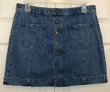 Ann Taylor Loft Women's Vintage Denim Skirt, Size 32/14, Length 17