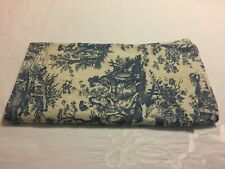 ~BLUE ON IVORY~WAVERLY CHARMED LIFE TOILE Valance CURTAINS