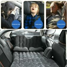 Black Car Air Bed Inflatable Mattress Back Seat Pillow Travel Sleeping Camping