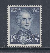Germany Sc 695 MNH. 1953 30pf Justus von Liebig, fresh & VF