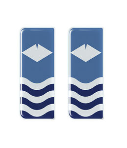 2x Isle of Wight Flag - Gel Domed Number Plate Badges/Decals 107x42mm