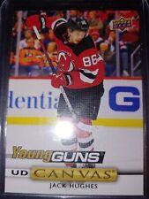 2919-20 Upper Deck Hockey Jack Hughes Young Guns Canvas UD Possible 10