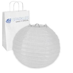 "12 pcs 6"" inch Chinese Paper Lantern - White - Wedding Party Event Decoratio ji"