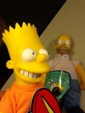 """HOMER and BART Simpson Collectible Dolls.1990 Burger King """"Meet The Simpsons"""""""