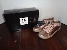 Womens DV by Dolce Vita Sammy Lace Up Metallic Sneakers Shoes