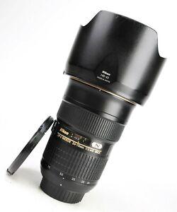 Nikon AF-S 24-70mm F2.8 G ED Autofocus Lens with Front & Rear Caps & Hood VGC
