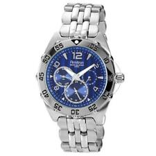 Sub Dial Stainless Steel Watch Armitron 20-4664Blsv Mens Blue Dial and