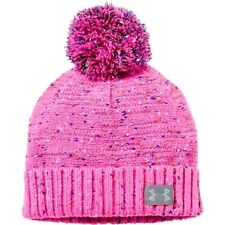 Under Armour Girl's Hat, Speckled Beanie hat, Pink, Infrared OSFA New with Tags