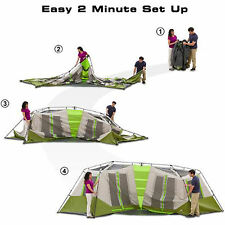Instant Cabin Tent Camping 8 Person Green Outdoor Shelter Family Hiking Travel