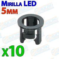Mirilla plastico para LED 5mm tipo Portaled Holder porta - Lote 10 unidades - Ar