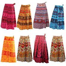 5 PC Indian Skirts Cotton Women Long  Bohemian Flamenco Gypsy Hippie skirts