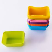 12-Pack Steadys BM-0123L Reusable Non-Stick Rectangle Silicone Baking Cups