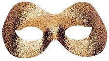 Gold Glitter Eye Mask Eyemask Masquerade Ball Party Cat Feline Fancy Dress
