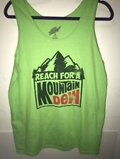 New Men's Medium Green Mountain Dew Soda Pop Drink Company Tank Top Shirt